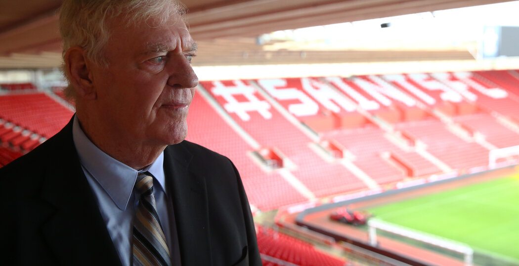 Club legend Lawrie McMenemy pictured at Southampton FC's St Mary's Stadium, while being interviewed ahead of the upcoming anniversary of the club's FA Cup win, 5th January 2015