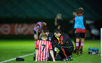josh sims injured during Southampton FC U23 v Bristol City U23 in the premier league cup, at Staplewood, Southampton, 30th September  2016, pic by Naomi Baker/Southampton FC