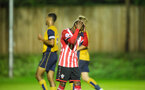 siph mdlalose shows dissapointment during Southampton FC U23 v Bristol City U23 in the premier league cup, at Staplewood, Southampton, 30th September  2016, pic by Naomi Baker/Southampton FC