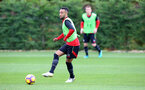 Nathan Redmond during a Southampton FC training session at the Staplewood Campus, Southampton, 28th October 2016