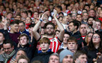 Saints fans during the Premier League match between Southampton and Chelsea at St Mary's Stadium, Southampton, England on 30 October 2016. Photo by Matt Watson/SFC/Digital South.