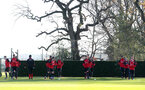 Players warm up during a Southampton FC training session at the Staplewood Campus, Southampton, 29th November 2016