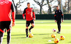 James Ward-Prowse during a Southampton FC training session at the Staplewood Campus, Southampton, 29th November 2016