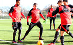 Pierre-Emile Hojbjerg during a Southampton FC training session at the Staplewood Campus, Southampton, 29th November 2016