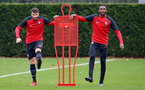 Sam McQueen and Cuco Martina during a Southampton FC training session at The Staplewood Campus, 7th December 2016
