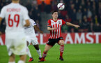 Pierre-Emile Hojbjerg during the UEFA Europa League match between Southampton and Hapoel Be'er Sheva F.C. at St Mary's Stadium, Southampton, England on 8 December 2016. Photo by Matt Watson/SFC/Digital South.