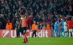 Dejected Ryan Bertrand during the UEFA Europa League match between Southampton and Hapoel Be'er Sheva F.C. at St Mary's Stadium, Southampton, England on 8 December 2016. Photo by Matt Watson/SFC/Digital South.