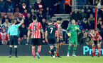 Virgil Van Dijk is sent off during the Premier League match between Southampton and West Bromwich Albion at St Mary's Stadium, Southampton, England on 31 December 2016. Photo by Matt Watson/SFC/Digital South.
