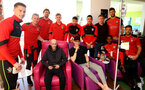 Southampton FC players visit children, parents and staff at Southampton General Hospital, 12th April 2017, photo by Matt Watson, with Southampton FC academy player Ben cull(centre right)
