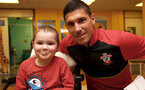 Southampton FC's Jeremy Pied, as players visit children, parents and staff at Southampton General Hospital, 12th April 2017, photo by Matt Watson
