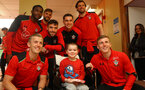 Southampton FC players visit children, parents and staff at Southampton General Hospital, 12th April 2017, photo by Matt Watson
