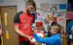 Southampton FC's Fraser Forster as players visit children, parents and staff at Southampton General Hospital, 12th April 2017, photo by Matt Watson