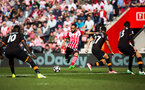 nathan redmond goal attempt during the Premier League match between Southampton and Hull City at St Mary's Stadium, Southampton, England on 29 April 2017. Photo by Naomi Baker/SFC/Digital South.