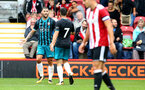 Charlie Austin scores during the pre-season friendly between Brentford FC(red/white) and Southampton FC(black), at Griffin Park Stadium, Brentford, London, 22nd July 2017