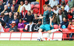 Will Wood during the pre-season friendly between Brentford FC(red/white) and Southampton FC(black), at Griffin Park Stadium, Brentford, London, 22nd July 2017