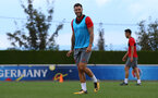 Charlie Austin during a Southampton FC pre-season training session, in Evian, France, 26th July 2017