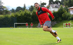 Charlie Austin during a Southampton FC pre-season training session, in Evian, France, 27th July 2017