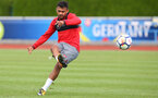Sofiane Boufal during a Southampton FC pre-season training session, in Evian, France, 28th July 2017