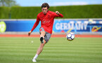 Pierre-Emile Hojbjerg during a Southampton FC pre-season training session, in Evian, France, 28th July 2017