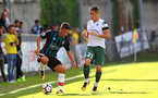 Jeremy Pied during a pre season friendly between St Etienne(white) and Southampton FC(black), at The Stade Municipal de Chambéry, France, 29th July 2017