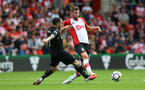 SOUTHAMPTON, ENGLAND - AUGUST 12: Southampton's Jack Stephens during the Premier League match between Southampton and Swansea City at St Mary's Stadium on August 12, 2017 in Southampton, England. (Photo by Matt Watson/Southampton FC via Getty Images)
