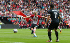 SOUTHAMPTON, ENGLAND - AUGUST 12: Southampton's James Ward-Prowse shoots at goal during the Premier League match between Southampton and Swansea City at St Mary's Stadium on August 12, 2017 in Southampton, England. (Photo by Matt Watson/Southampton FC via Getty Images)