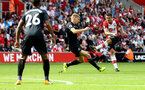 SOUTHAMPTON, ENGLAND - AUGUST 12: Southampton's Dusan Tadic shoots at goal during the Premier League match between Southampton and Swansea City at St Mary's Stadium on August 12, 2017 in Southampton, England. (Photo by Matt Watson/Southampton FC via Getty Images)