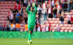 SOUTHAMPTON, ENGLAND - AUGUST 12: Southampton's Fraser Forster during the Premier League match between Southampton and Swansea City at St Mary's Stadium on August 12, 2017 in Southampton, England. (Photo by Matt Watson/Southampton FC via Getty Images)