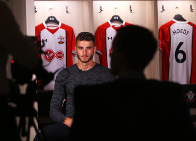 Video: Hoedt's first Saints interview