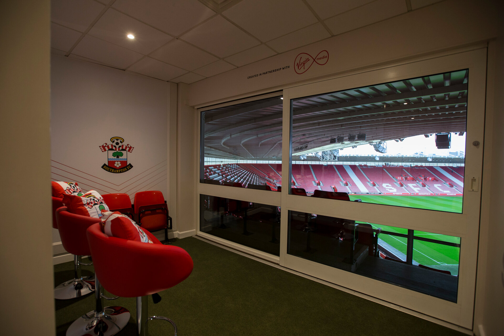 SOUTHAMPTON, ENGLAND - SEPTEMBER 08: Sensory Room - St Mary's Stadium September 8, 2017 in Southampton, England. (Photo by James Bridle/Southampton FC via Getty Images)