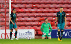 WALSALL, ENGLAND - SEPTEMBER 11: Villa score their opening goal to the dismay of Southampton keeper Alex McCarthy during the Premier League 2 match between Aston Villa and Southampton, at Banks' Stadium on September 11, 2017 in Walsall, England. (Photo by Matt Watson/Southampton FC via Getty Images)