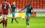 WALSALL, ENGLAND - SEPTEMBER 11: Jonathan Afolabi during the Premier League 2 match between Aston Villa and Southampton, at Banks' Stadium on September 11, 2017 in Walsall, England. (Photo by Matt Watson/Southampton FC via Getty Images)