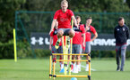 SOUTHAMPTON, ENGLAND - SEPTEMBER 19: James Ward-Prowse during a Southampton FC training session at the Staplewood Campus on September 19, 2017 in Southampton, England. (Photo by Matt Watson/Southampton FC via Getty Images)