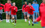 SOUTHAMPTON, ENGLAND - SEPTEMBER 21: James Ward-Prowse(left) and Oriol Romeu during a Southampton FC training session at the Staplewood Campus on September 21, 2017 in Southampton, England. (Photo by Matt Watson/Southampton FC via Getty Images)