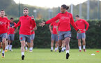 SOUTHAMPTON, ENGLAND - SEPTEMBER 28: Sam McQueen(left) and Virgil Van Dijk during a Southampton FC training session at the Staplewood Campus on September 28, 2017 in Southampton, England. (Photo by Matt Watson/Southampton FC via Getty Images)