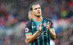 STOKE ON TRENT, ENGLAND - SEPTEMBER 30: Southampton's Cedric during the Premier League match between Stoke City and Southampton at the Bet365 Stadium on September 30, 2017 in Stoke on Trent, England. (Photo by Matt Watson/Southampton FC via Getty Images)