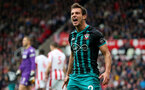 STOKE ON TRENT, ENGLAND - SEPTEMBER 30: Southampton's cedric shows his frustration during the Premier League match between Stoke City and Southampton at the Bet365 Stadium on September 30, 2017 in Stoke on Trent, England. (Photo by Matt Watson/Southampton FC via Getty Images)
