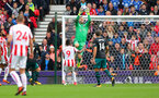 STOKE ON TRENT, ENGLAND - SEPTEMBER 30: Southampton's Fraser Forster during the Premier League match between Stoke City and Southampton at the Bet365 Stadium on September 30, 2017 in Stoke on Trent, England. (Photo by Matt Watson/Southampton FC via Getty Images)