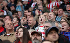 STOKE ON TRENT, ENGLAND - SEPTEMBER 30: Southampton fans during the Premier League match between Stoke City and Southampton at the Bet365 Stadium on September 30, 2017 in Stoke on Trent, England. (Photo by Matt Watson/Southampton FC via Getty Images)