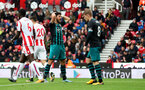 STOKE ON TRENT, ENGLAND - SEPTEMBER 30: Southampton's Shane Long after a missed opportunity during the Premier League match between Stoke City and Southampton at the Bet365 Stadium on September 30, 2017 in Stoke on Trent, England. (Photo by Matt Watson/Southampton FC via Getty Images)