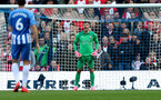 BRIGHTON, ENGLAND - OCTOBER 29: Southampton's Fraser Forster during the Premier League match between Brighton and Hove Albion and Southampton at the Amex Stadium on October 29, 2017 in Brighton, England. (Photo by Matt Watson/Southampton FC via Getty Images)