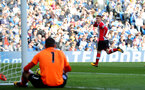 BRIGHTON, ENGLAND - OCTOBER 29: Southampton's Steven Davis celebrates after opening the scoring during the Premier League match between Brighton and Hove Albion and Southampton at the Amex Stadium on October 29, 2017 in Brighton, England. (Photo by Matt Watson/Southampton FC via Getty Images)