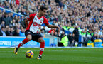 BRIGHTON, ENGLAND - OCTOBER 29: Southampton's Cedric during the Premier League match between Brighton and Hove Albion and Southampton at the Amex Stadium on October 29, 2017 in Brighton, England. (Photo by Matt Watson/Southampton FC via Getty Images)