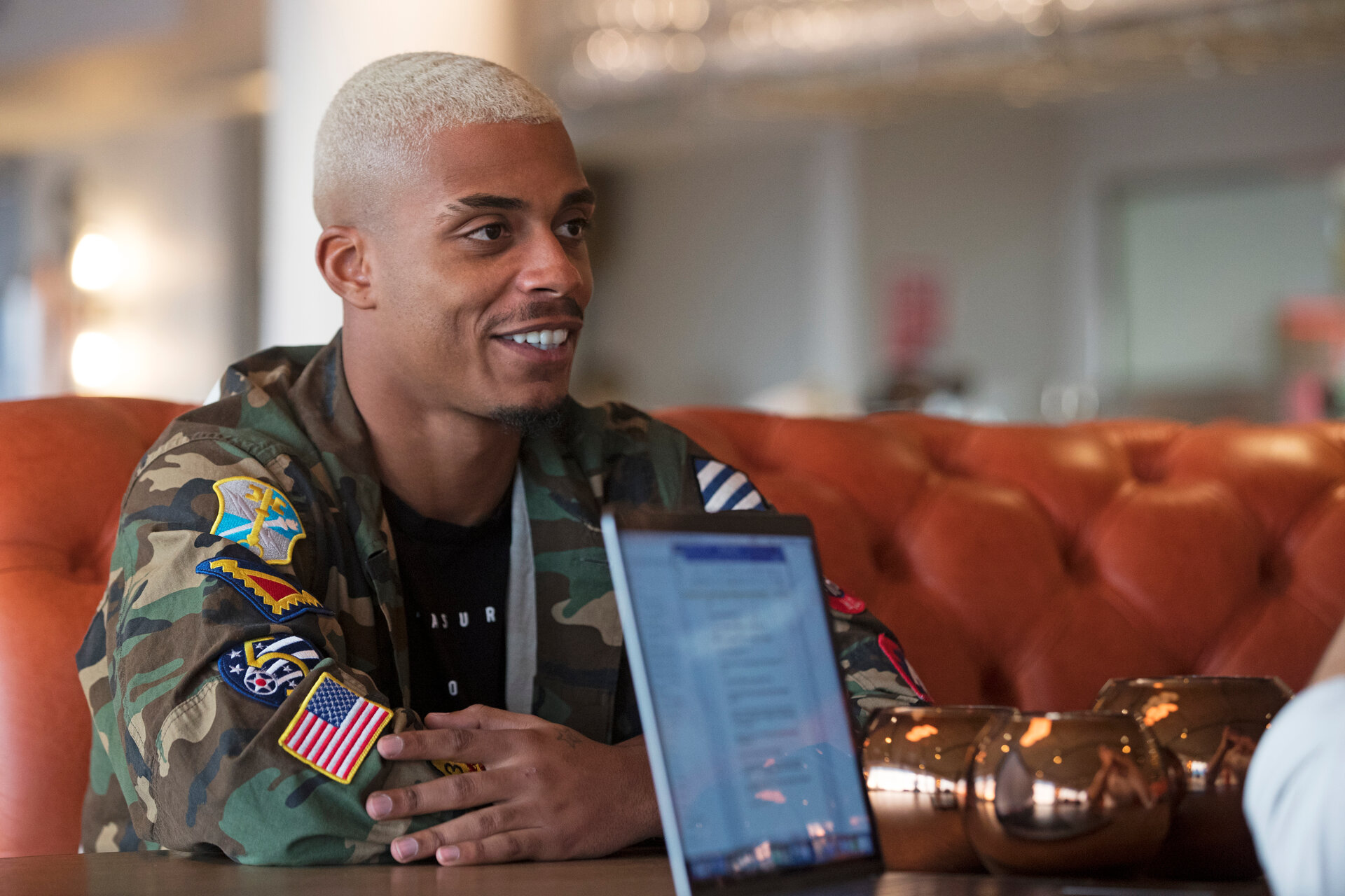 SOUTHAMPTON, ENGLAND - NOVEMBER 22: Southampton FC's Mario Lemina pictured at Southampton's new five-star hotel The Southampton Harbour Hotel, for the club's matchday magazine, on November 22, 2017 in Southampton, England. (Photo by Matt Watson/Southampton FC via Getty Images)
