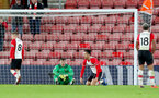 SOUTHAMPTON, ENGLAND - DECEMBER 13: Southampton players dejected during the Premier League match between Southampton and Leicester City at St Mary's Stadium on December 13, 2017 in Southampton, England. (Photo by Matt Watson/Southampton FC via Getty Images)