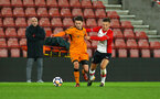 SOUTHAMPTON, ENGLAND - DECEMBER 14: Harry Hamblin (right) of Southampton FC during the match between Southampton FC vs Wolverhampton Wanders for the FA U18's Youth Cup on December 14, 2017 in Southampton, England. (Photo by James Bridle - Southampton FC/Southampton FC via Getty Images)