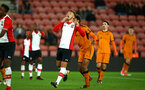 SOUTHAMPTON, ENGLAND - DECEMBER 14: Near Miss for Harry Hamblin (middle) of Southampton FC during the match between Southampton FC vs Wolverhampton Wanders for the FA U18's Youth Cup on December 14, 2017 in Southampton, England. (Photo by James Bridle - Southampton FC/Southampton FC via Getty Images)