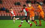 SOUTHAMPTON, ENGLAND - DECEMBER 14: Jonathan Afolabi (left) of Southampton FC during the match between Southampton FC vs Wolverhampton Wanders for the FA U18's Youth Cup on December 14, 2017 in Southampton, England. (Photo by James Bridle - Southampton FC/Southampton FC via Getty Images)