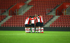 SOUTHAMPTON, ENGLAND - DECEMBER 14: Team Huddle for Southampton FC ahead of the match between Southampton FC vs Wolverhampton Wanders for the FA U18's Youth Cup on December 14, 2017 in Southampton, England. (Photo by James Bridle - Southampton FC/Southampton FC via Getty Images)