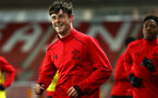 SOUTHAMPTON, ENGLAND - DECEMBER 14: Will Ferry (left) of Southampton FC ahead of the match between Southampton FC vs Wolverhampton Wanders for the FA U18's Youth Cup on December 14, 2017 in Southampton, England. (Photo by James Bridle - Southampton FC/Southampton FC via Getty Images)